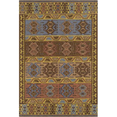 Ridge Manor Hand Woven Gold/Brown Outdoor Area Rug Rug Size: Rectangle 4 x 6