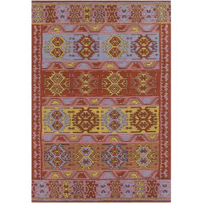 Ridge Manor Hand Woven Bright Red/Blush Outdoor Area Rug Rug Size: Rectangle 2 x 3