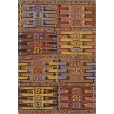 Ridge Manor Hand Woven Brown/Gold Outdoor Area Rug Rug Size: Rectangle 5' x 7'6