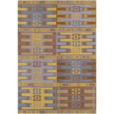 Ridge Manor Transitional Hand Woven Gold/Camel Outdoor Area Rug Rug Size: Rectangle 4 x 6