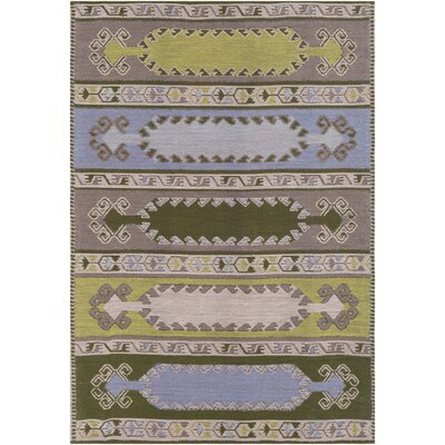Ridge Manor Transitional Hand Woven Lime/Brown Outdoor Area Rug Rug Size: Rectangle 2 x 3