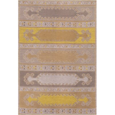 Ridge Manor Tranditional Hand Woven Gold/Brown Outdoor Area Rug Rug Size: Rectangle 5 x 76