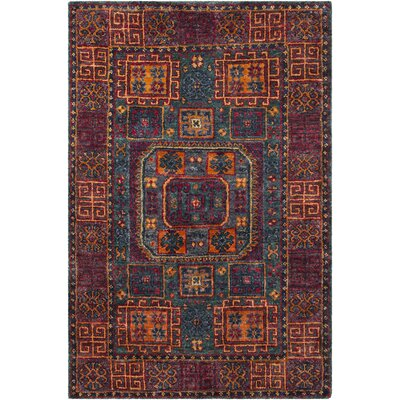 Richelieu Bohemian Hand Knotted Burnt Orange Area Rug Rug Size: Rectangle 8 x 11