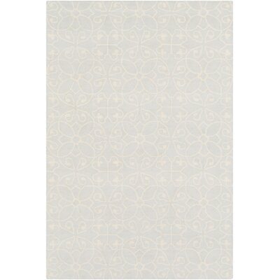 Arison Medallions and Damask Hand Hooked Wool Cream Area Rug Rug Size: Rectangle 5 x 76