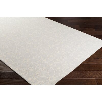 Arison Medallions and Damask Hand Hooked Wool Cream Area Rug Rug Size: Rectangle 8 x 10