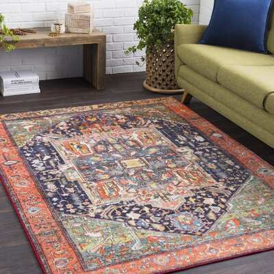 Coral, Dark Blue, Medium Gray, Lime, Olive, White, Bright Red, Bright Blue, Black, Lilac Red Area Rug Rug Size: Rectangle 53 x 73