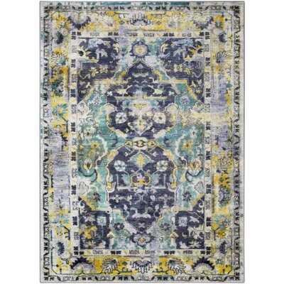 Wyclif Dark Green/Emerald Area Rug Rug Size: Rectangle 710 x 103