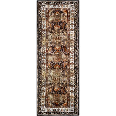 Ridgecrest Brown/Black Area Rug Rug Size: Runner 27 x 73