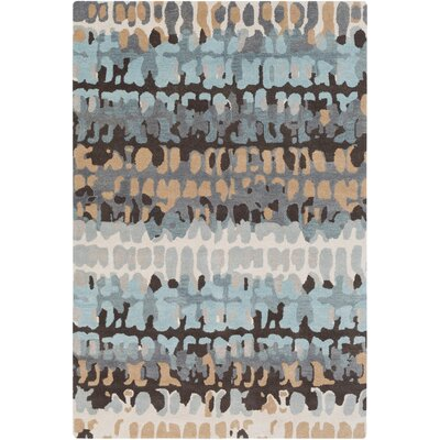 Axelle Abstract Hand Tufted Wool Gray/Khaki Area Rug Rug Size: Rectangle 5 x 76