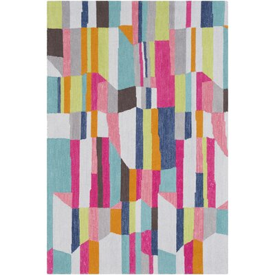 Axelle Hand Tufted Wool Mint/Pink Area Rug Rug Size: Rectangle 8' x 10'