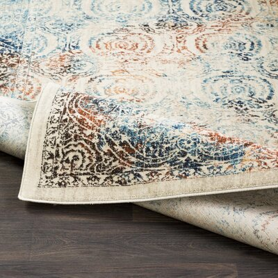 De Funiak Springs Aqua/Burnt Orange Area Rug Rug Size: Rectangle 53 x 76