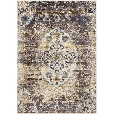 De Funiak Springs Overdyed Distressed Dark Blue/Dark Brown Area Rug Rug Size: Rectangle 710 x 103