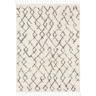 Barlett Modern Bohemian Cream/Charcoal Area Rug Rug Size: Rectangle 2' x 3'
