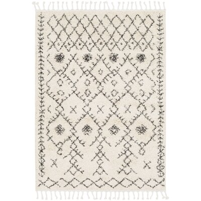 Barlett Modern Bohemian Ivory/Charcoal Area Rug Rug Size: Rectangle 53 x 73
