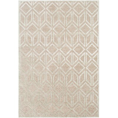 Lucius Modern Geometric Taupe/Seafoam Area Rug Rug Size: Rectangle 88 x 12