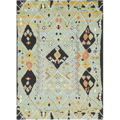 Rhodes Bohemian Teal/Grass Green Area Rug Rug Size: Rectangle 2 x 3