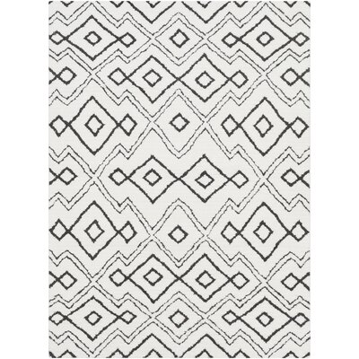 Rhodes Bohemian Ivory/Black Southwestern Area Rug Rug Size: Rectangle 53 x 73