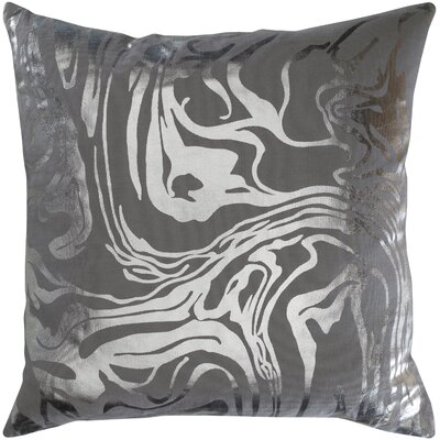 Ruffin Modern Abstract Cotton Throw Pillow Color: Gray