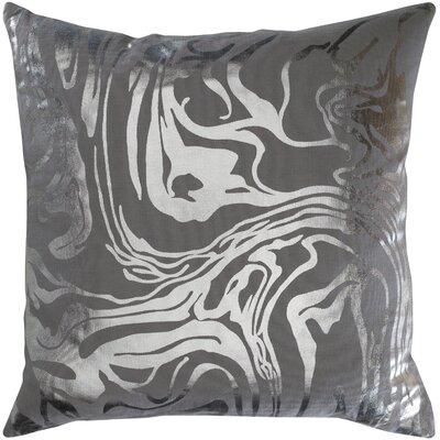 Ruffin Modern Abstract Cotton Throw Pillow Color: Gray