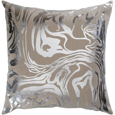 Ruffin Modern Abstract Cotton Throw Pillow Color: Khaki