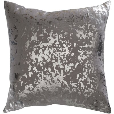 Crescent Modern cotton Pillow Cover Color: Gray