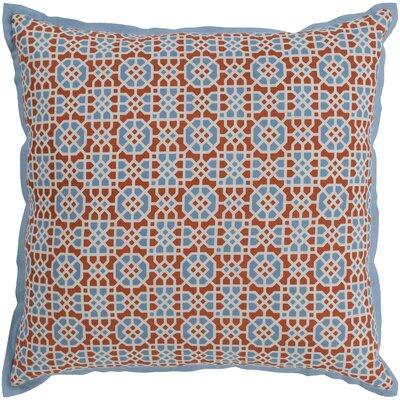 Francesco Geometric Cotton Pillow Cover Color: Burnt Orange/Blue
