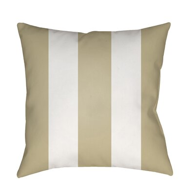 Vineyard Modern Striped Outdoor Throw Pillow Color: Tan
