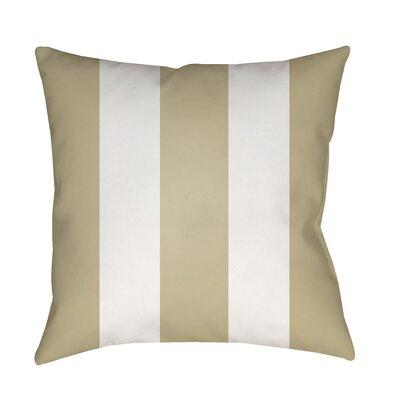 Vineyard Modern Striped Outdoor Throw Pillow Color: Tan