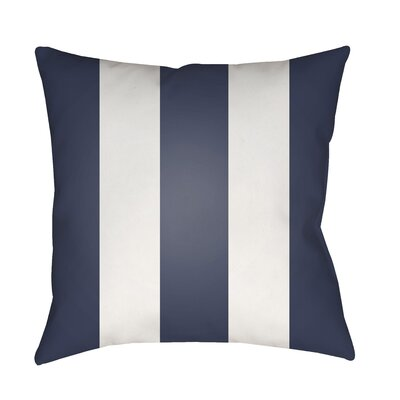 Vineyard Modern Striped Outdoor Throw Pillow Color: Navy