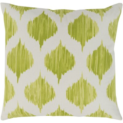 Ogee Cotton Throw Pillow Cover Color: Green