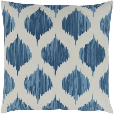 Ogee Cotton Throw Pillow Cover Color: Blue
