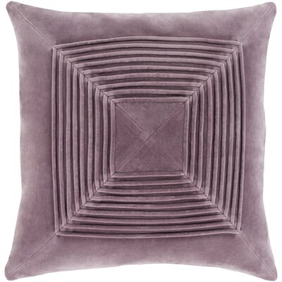 Stolp Textured Cotton Throw Pillow Color: Purple, Size: 22 H x 22 W x 5 D, Type/Fill: Pillow With Down Insert