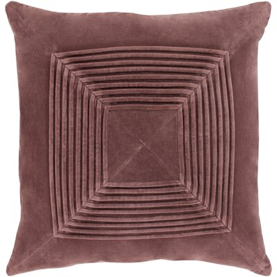 Stolp Textured Cotton Throw Pillow Color: Brown, Size: 20 H x 20 W x 5 D,  Type/Fill: Pillow With Polyester Insert