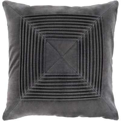 Stolp Textured Cotton Throw Pillow Color: Black, Size: 22 H x 22 W x 5 D, Type/Fill: Pillow With Down Insert