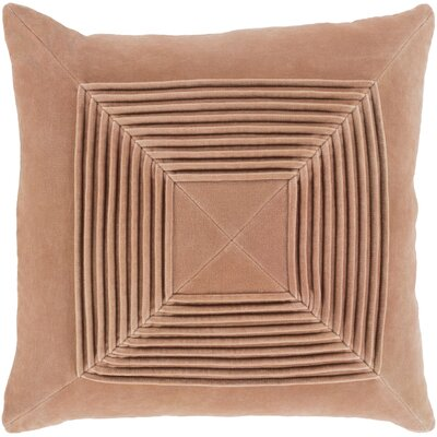 Stolp Textured Cotton Throw Pillow Color: Dark Beige, Size: 22 H x 22 W x 5 D, Type/Fill: Pillow With Down Insert