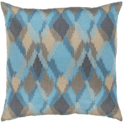 Camila Jacquard Throw Pillow Color: Blue, Size: 18 H x 18 W x 4 D, Product Type/Fill: Pillow With Down Insert