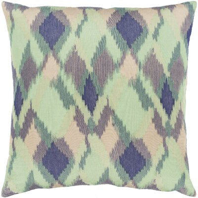 Camila Jacquard Throw Pillow Color: Green, Size: 18 H x 18 W x 0.25 D, Product Type/Fill: Cover
