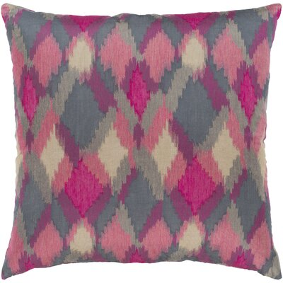 Camila Jacquard Throw Pillow Color: Pink/Red, Size: 18 H x 18 W x 4 D, Product Type/Fill: Pillow With Polyester Insert