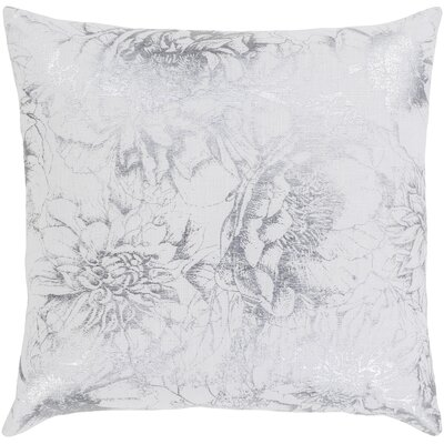 Crescent Modern Floral Cotton Throw Pillow Size: 20 H x 20 W x 5 D, Type/Fill: Pillow With Polyester Insert