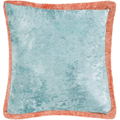 Cyber Crushed Velvet Throw Pillow Color: Blue/Orange, Size: 20 H x 20 W x 5 D, Type/Fill: Pillow With Down Insert