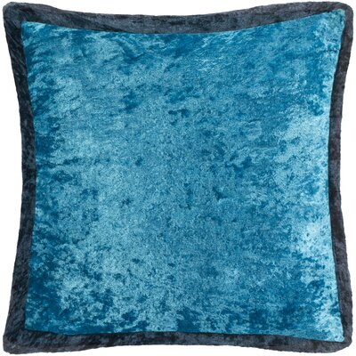 Cyber Crushed Velvet Throw Pillow Color: Navy/Blue, Size: 20 H x 20 W x 0.25 D, Type/Fill: Cover
