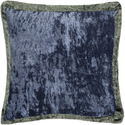 Cyber Crushed Velvet Throw Pillow Color: Green/Navy, Size: 20 H x 20 W x 0.25 D, Type/Fill: Cover