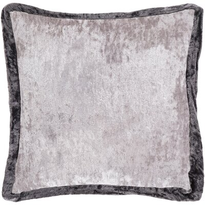 Cyber Crushed Velvet Throw Pillow Color: Black/Gray, Size: 20 H x 20 W x 5 D, Type/Fill: Pillow With Polyester Insert