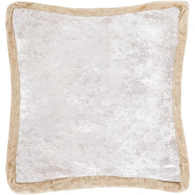 Cyber Crushed Velvet Throw Pillow Color: Beige/Pink, Size: 20 H x 20 W x 5 D, Type/Fill: Pillow With Down Insert