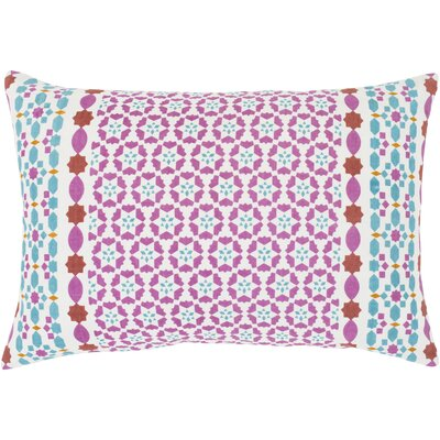 Kaleigh Geometric Cotton Lumbar Pillow Size: 13 H x 19 W x 4 D, Type/Fill: Pillow/Down Insert
