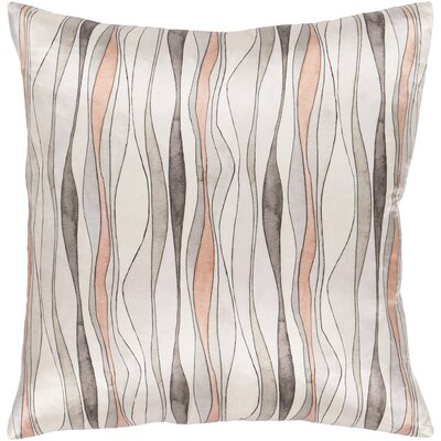 Natural Affinity Modern Silk Throw Pillow Size: 20 H x 20 W x 4 D, Product Type/Fill: Pillow With Down Insert