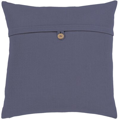 Penelope Modern Cotton Throw Pillow Color: Navy, Size: 18 H x 18 W x 4 D, Type/Fill: Pillow With Down Insert