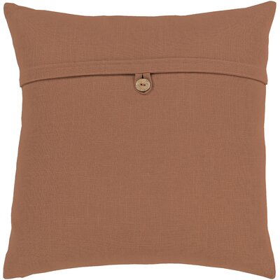 Penelope Modern Cotton Throw Pillow Color: Brown, Size: 20 H x 20 W x 5 D, Type/Fill: Pillow With Down Insert