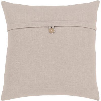 Penelope Modern Cotton Throw Pillow Color: Beige, Size: 20 H x 20 W x 5 D, Type/Fill: Pillow With Down Insert