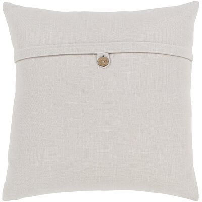 Penelope Modern Cotton Throw Pillow Color: Off White, Size: 18 H x 18 W x 4 D, Type/Fill: Pillow With Down Insert